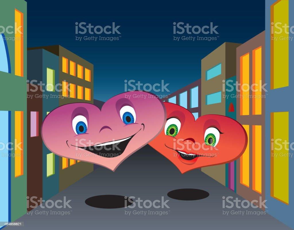 Happy hearts royalty-free stock vector art