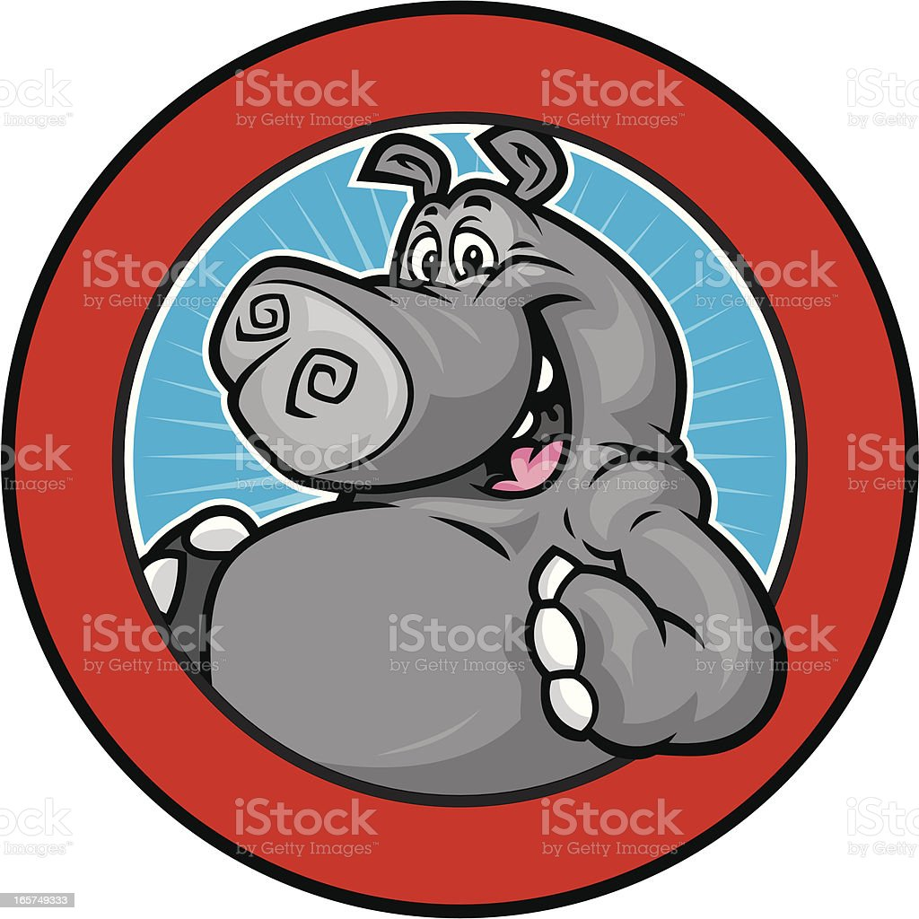 Happy Hippo Mascot design vector art illustration