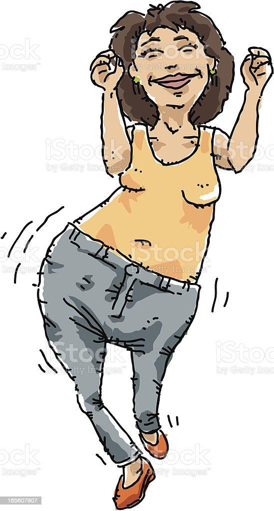 Happy Hips vector art illustration