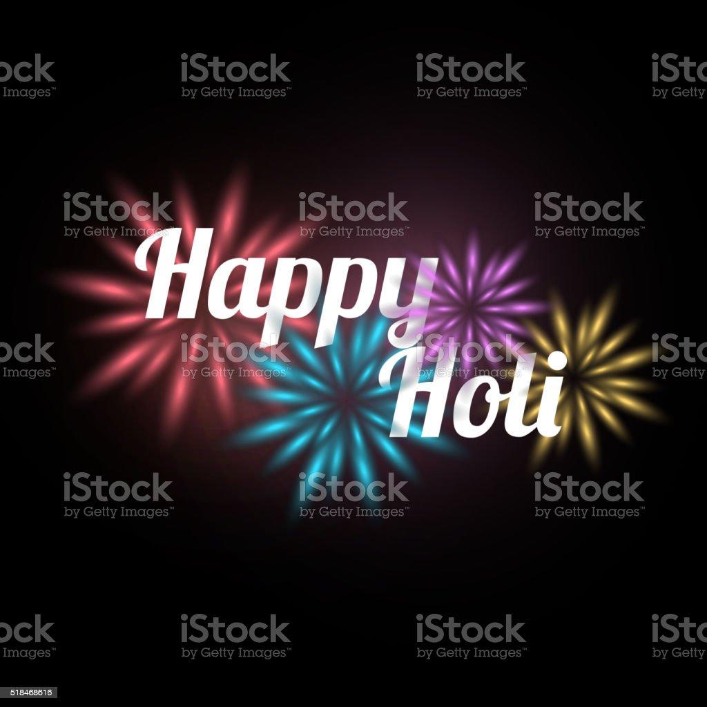 Happy holi background vector art illustration