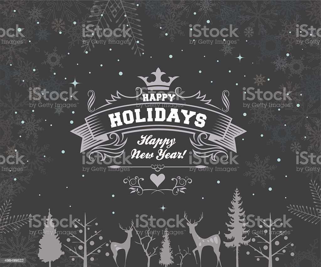 Happy holiday vector art illustration