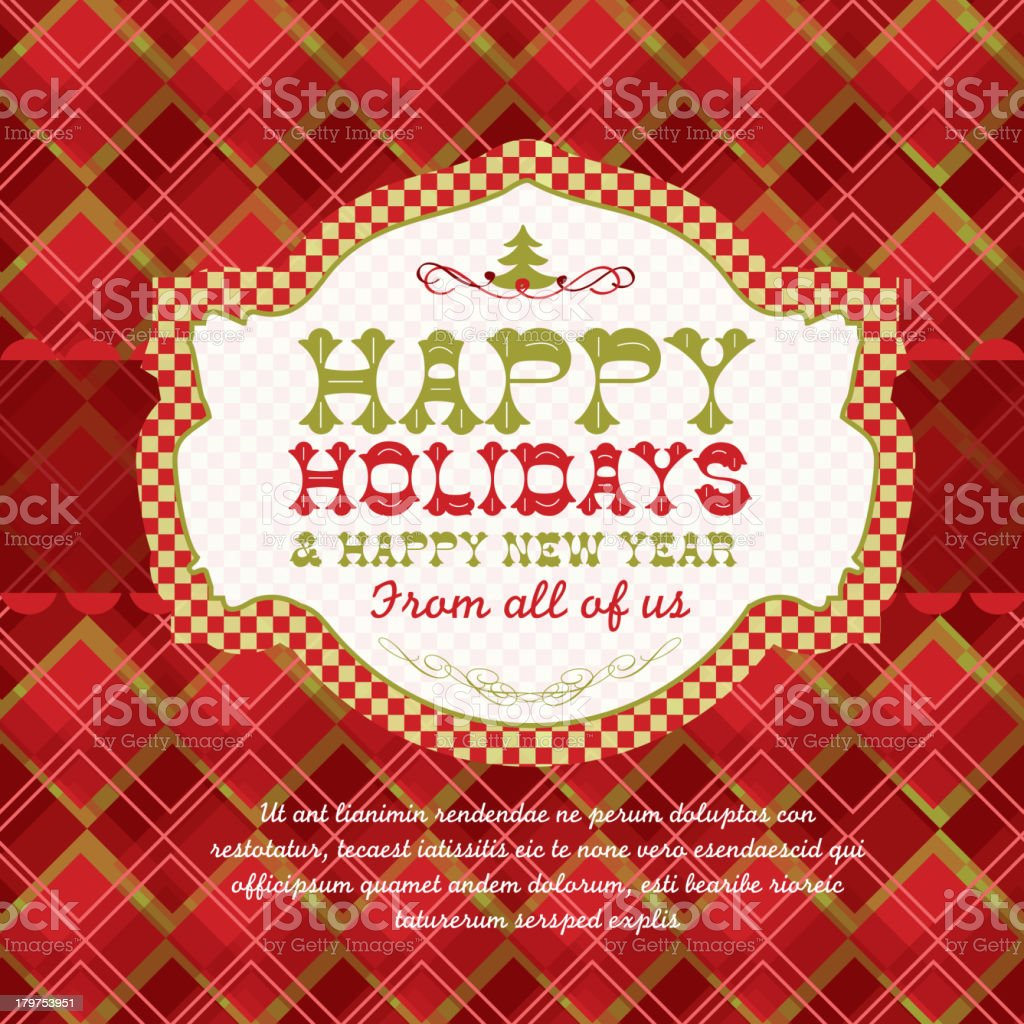 Happy Holidays and Happy New Years greeting design template vector art illustration