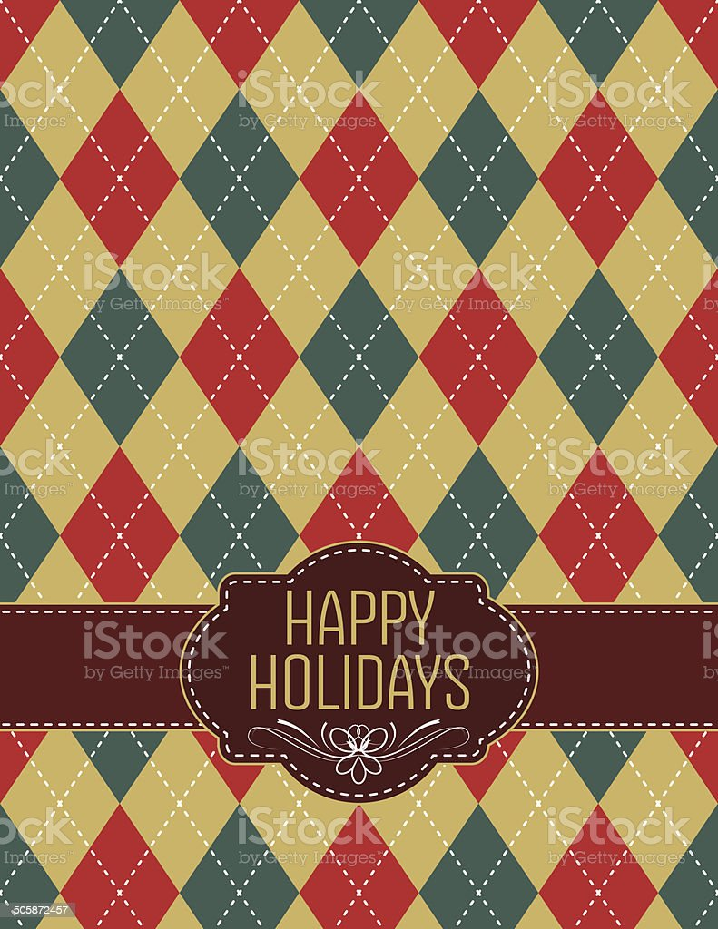 Happy Holidays Argyle Holiday Christmas Template