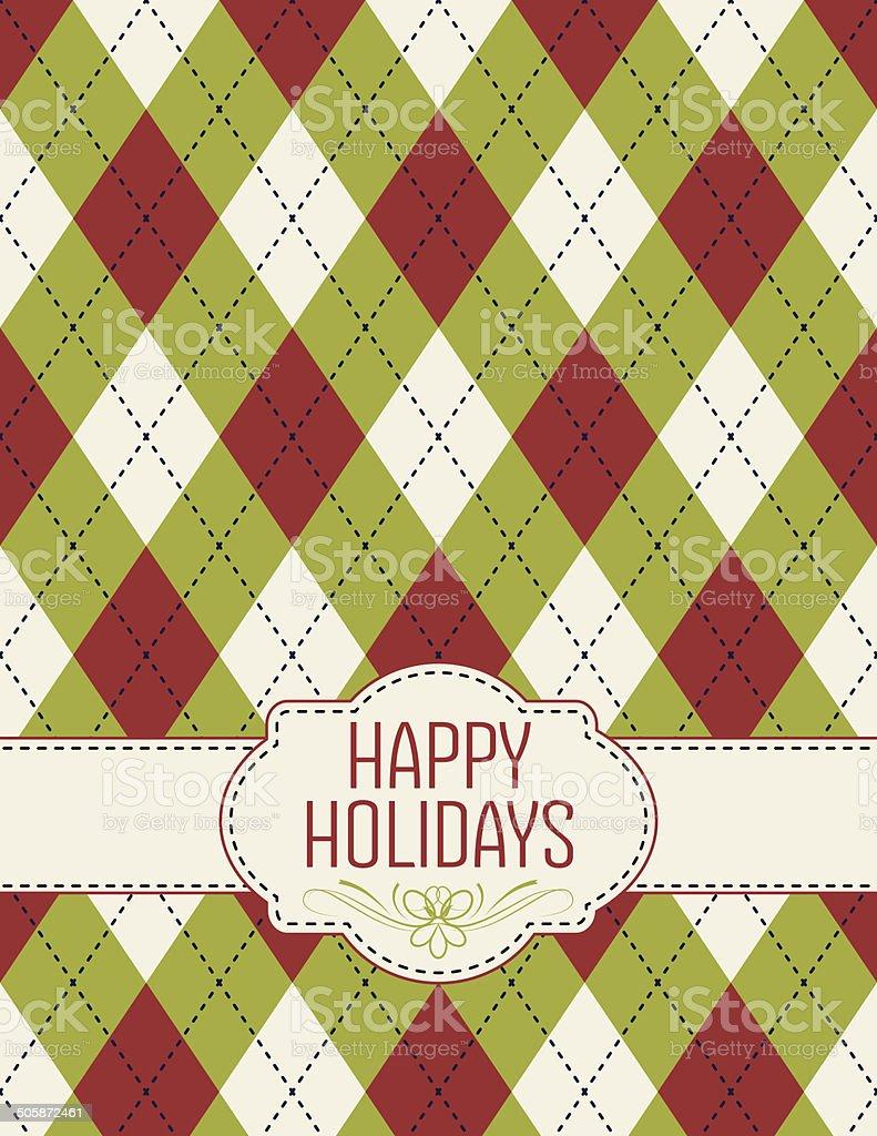 Happy Holidays Argyle Holiday Christmas Template