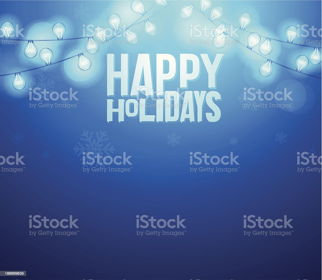 Happy Holidays Background royalty-free stock vector art