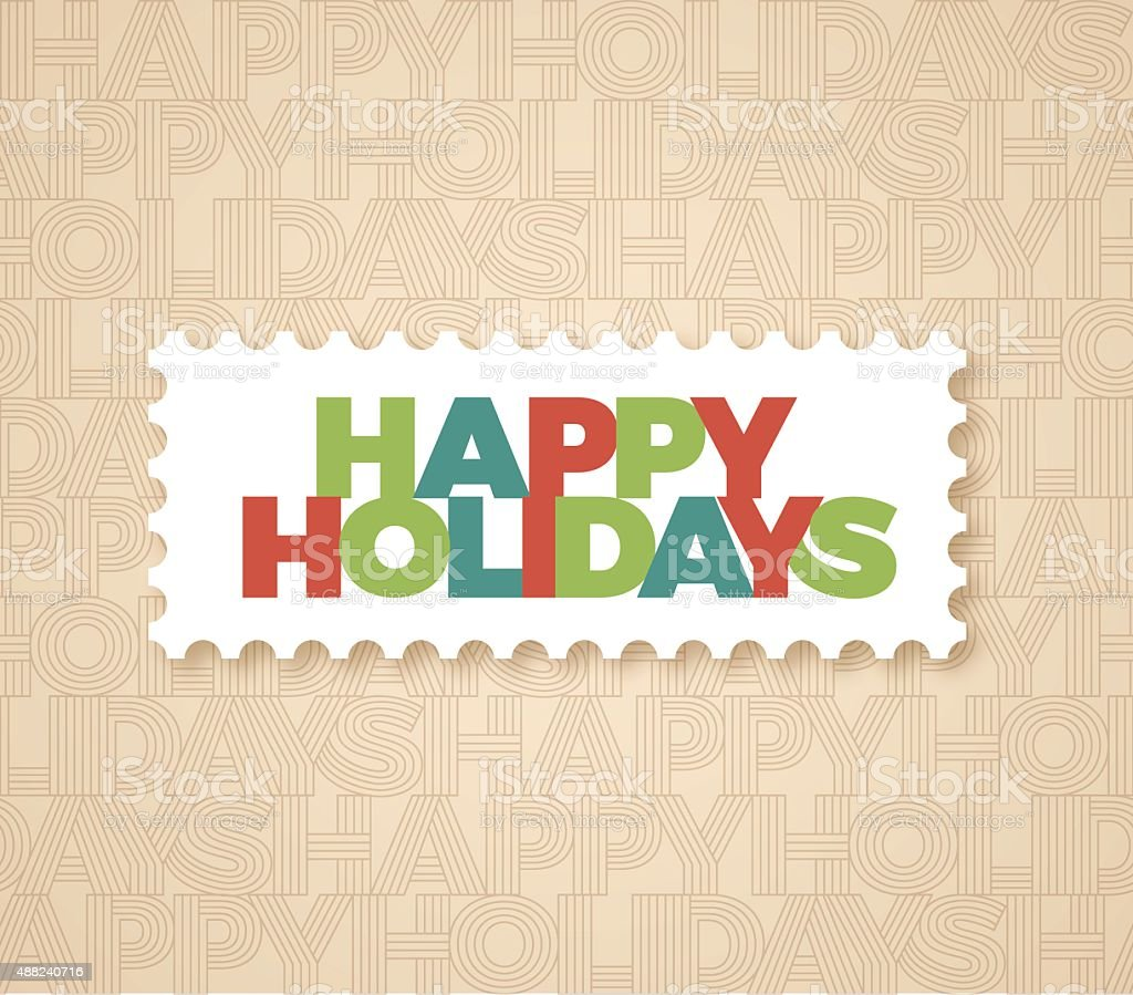 Happy Holidays Background vector art illustration