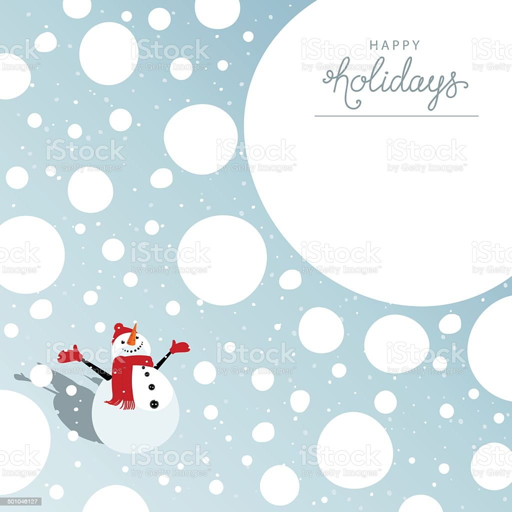 Happy holidays card vector art illustration