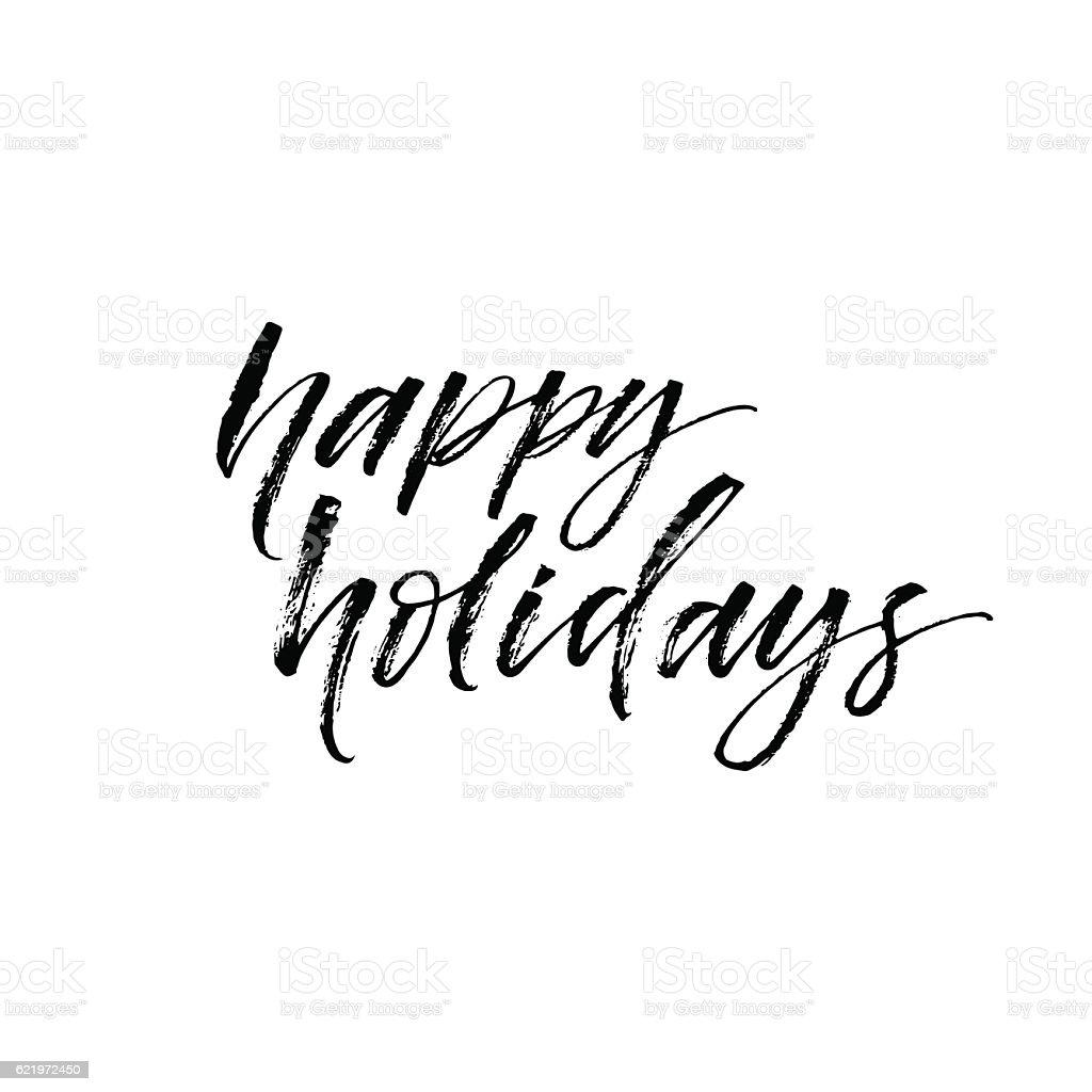 Happy holidays card. vector art illustration
