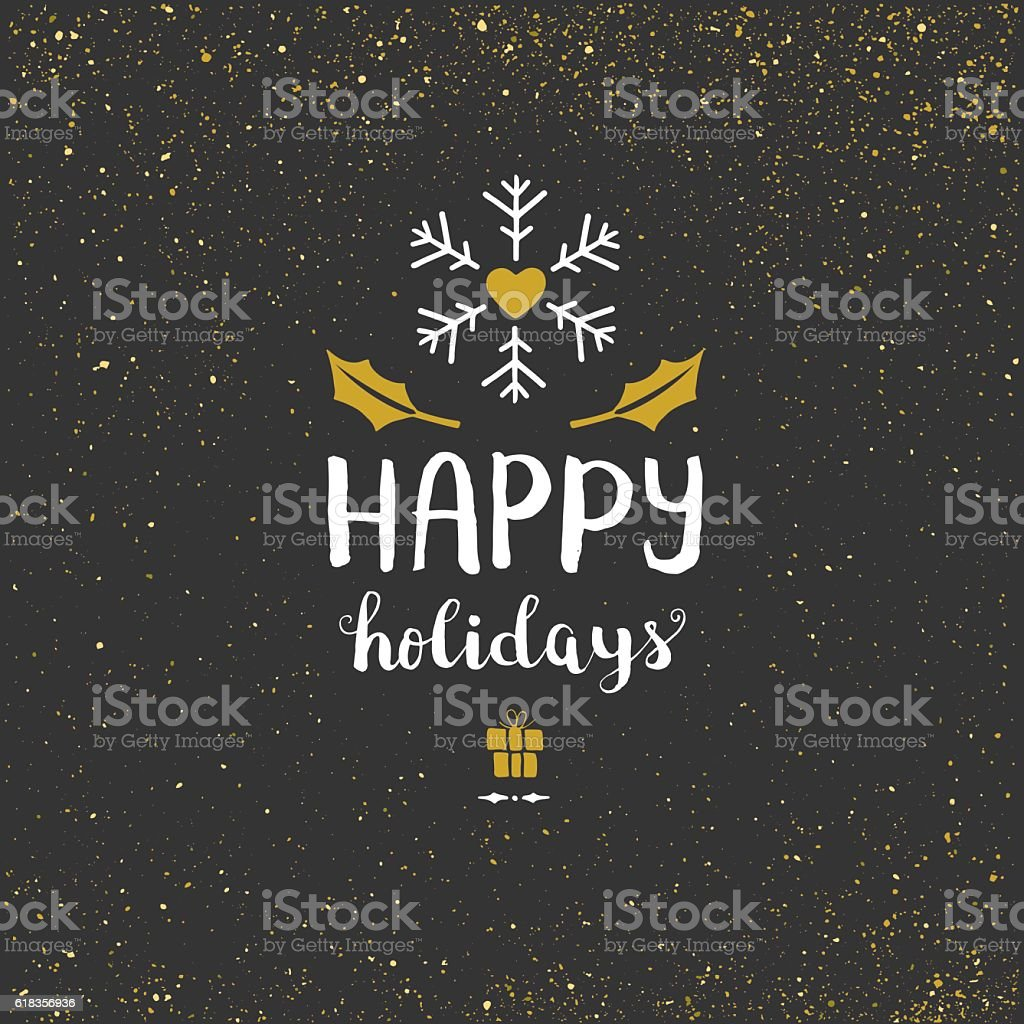 Happy holidays glitter background vector art illustration
