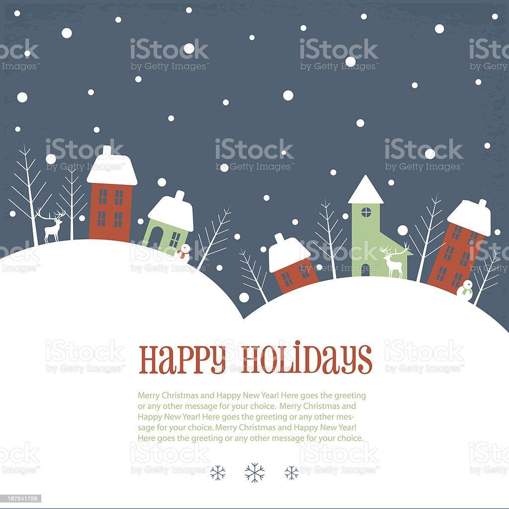 Happy Holidays greeting banner vector art illustration