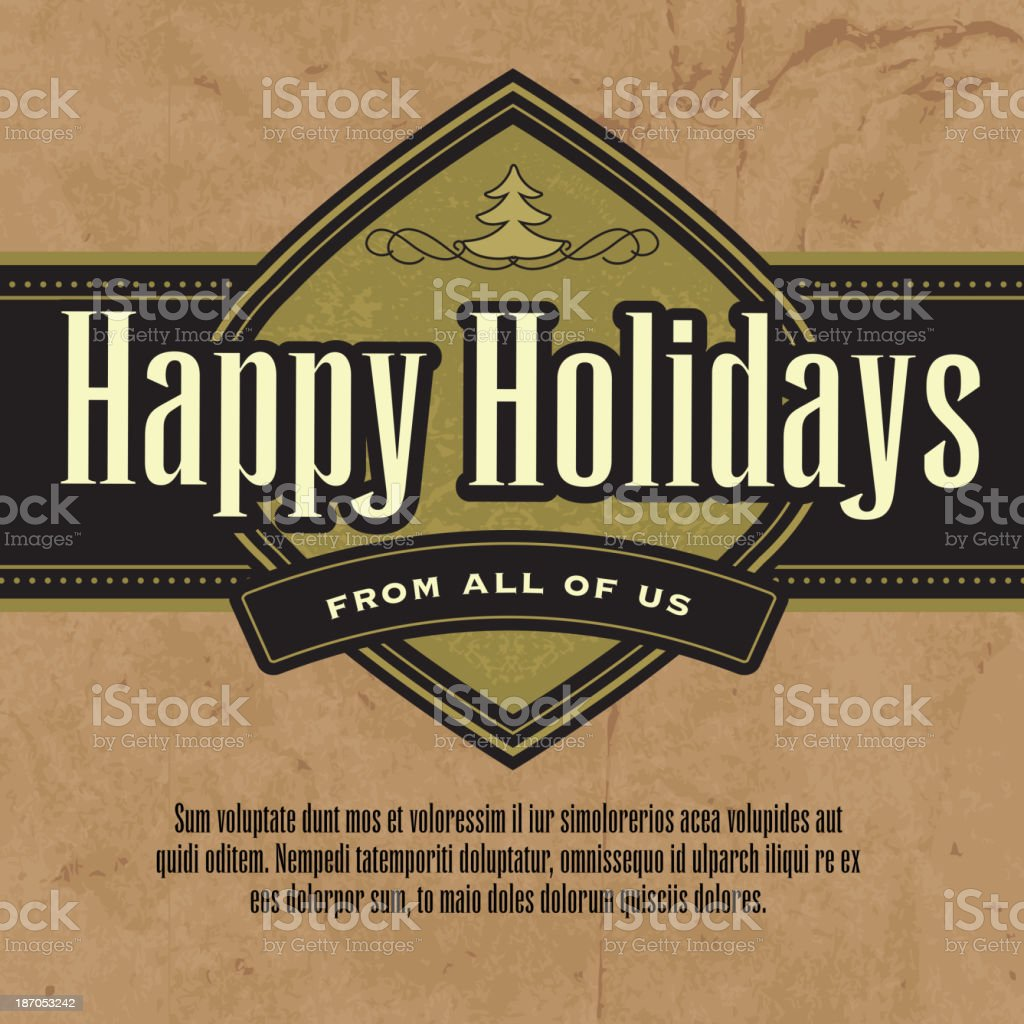 Happy Holidays greeting design template royalty-free stock vector art