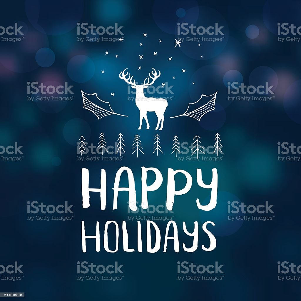 Happy holidays reindeer vector art illustration