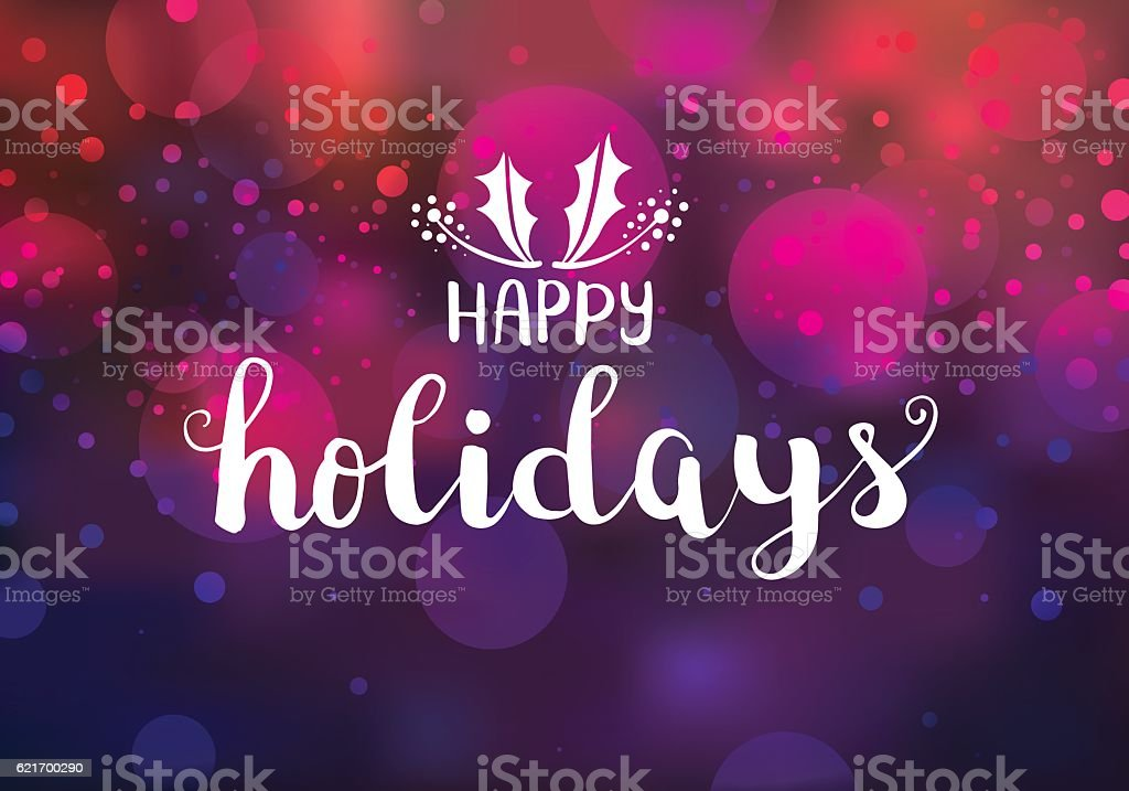 Happy holidays sparkling lights vector art illustration
