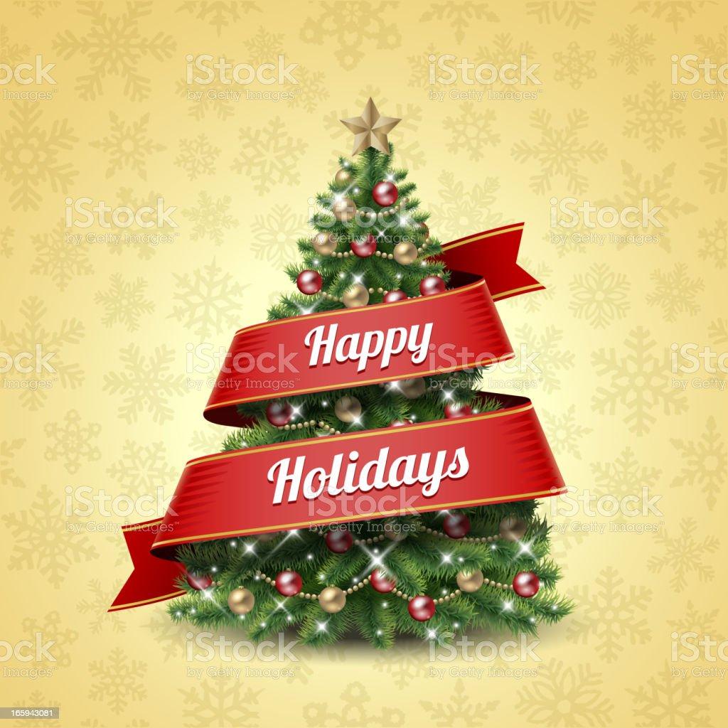 Happy Holidays royalty-free stock vector art