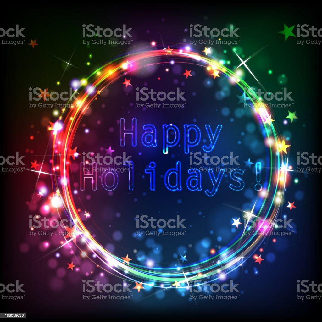 Happy Holidays! royalty-free stock vector art
