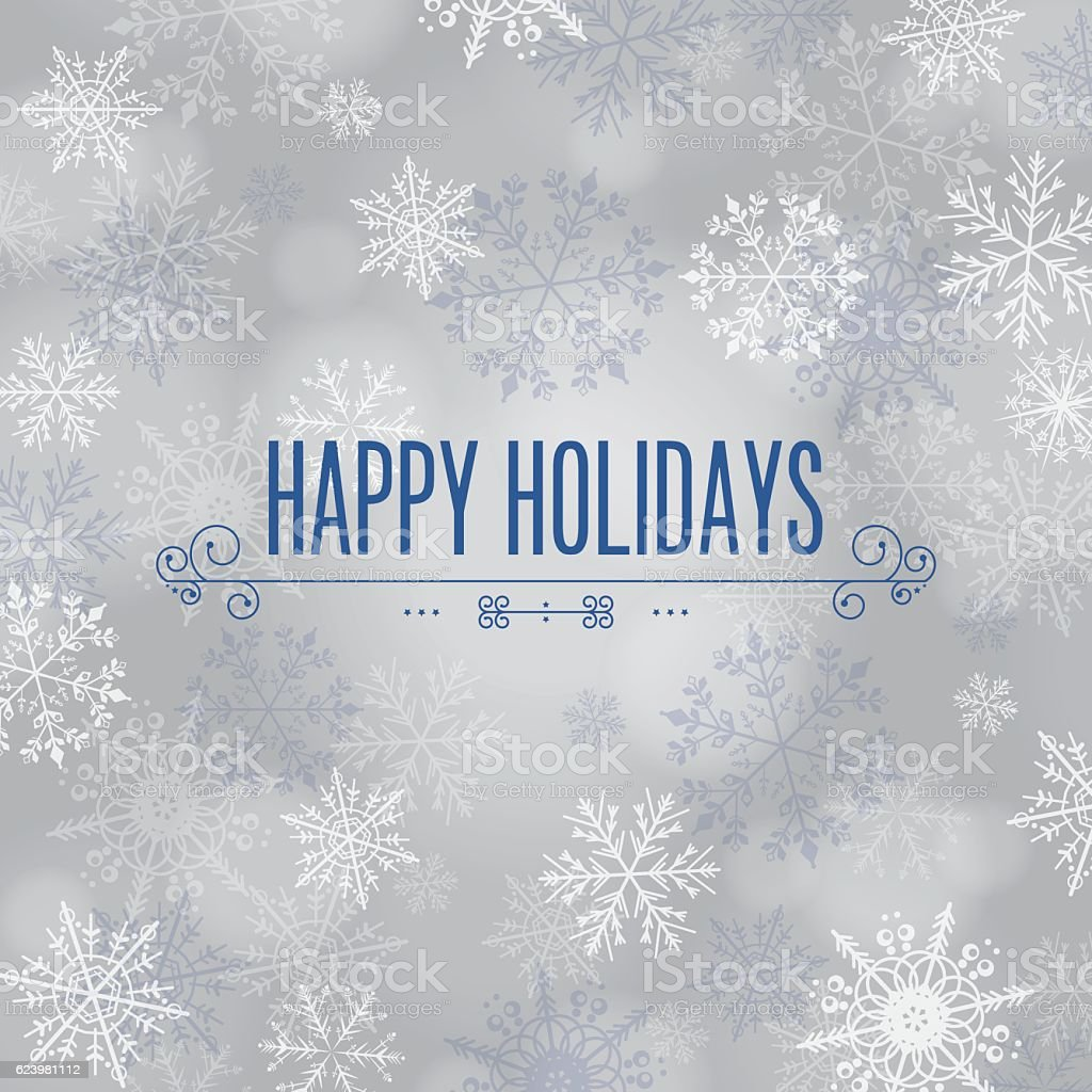 Happy Holidays vector art illustration