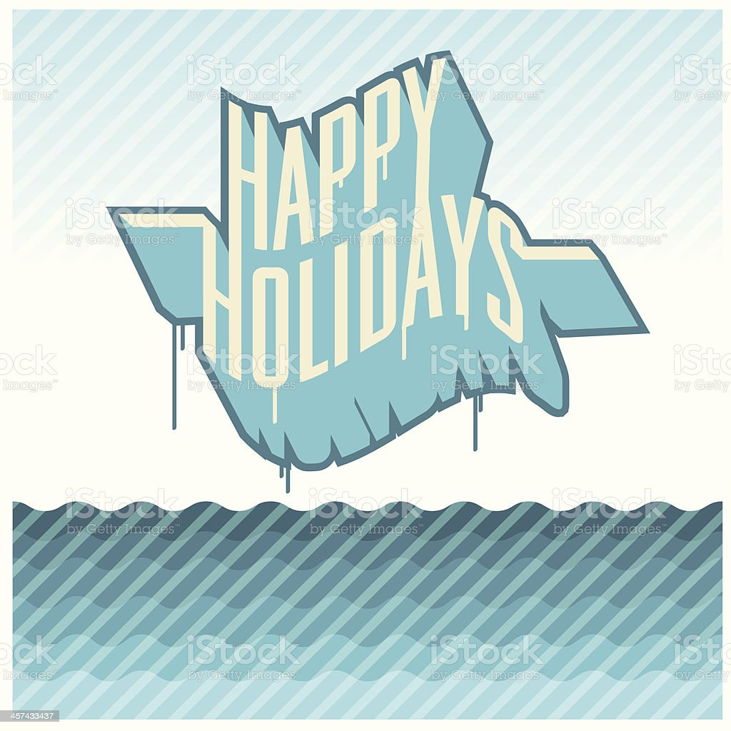 Happy Holydays vector art illustration