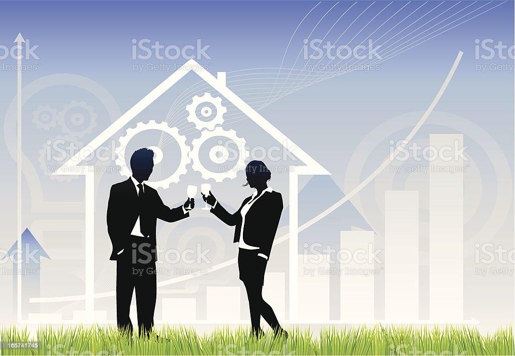 Happy Home royalty-free stock vector art