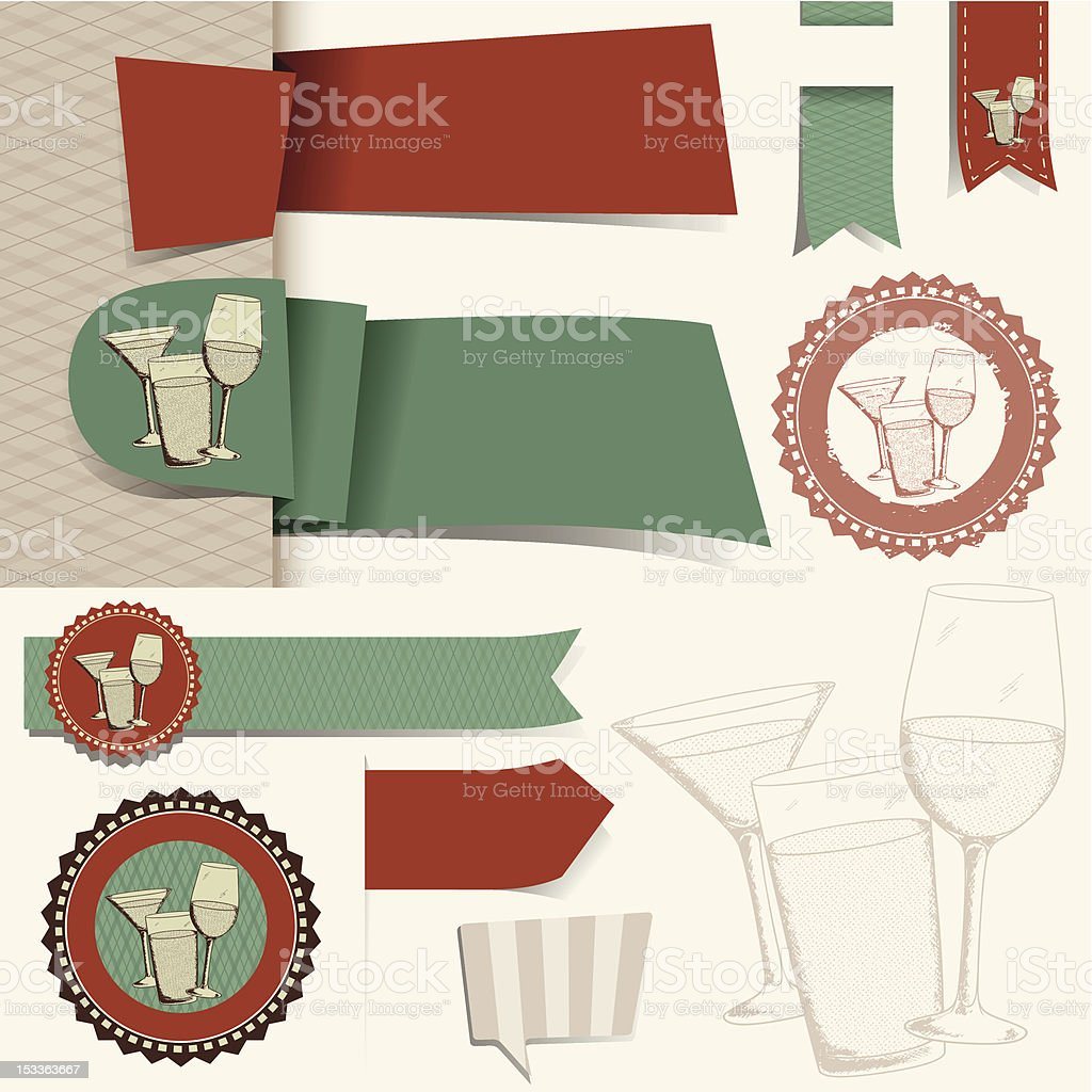 Happy Hour Collection vector art illustration