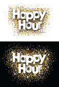 Happy hour paper card.