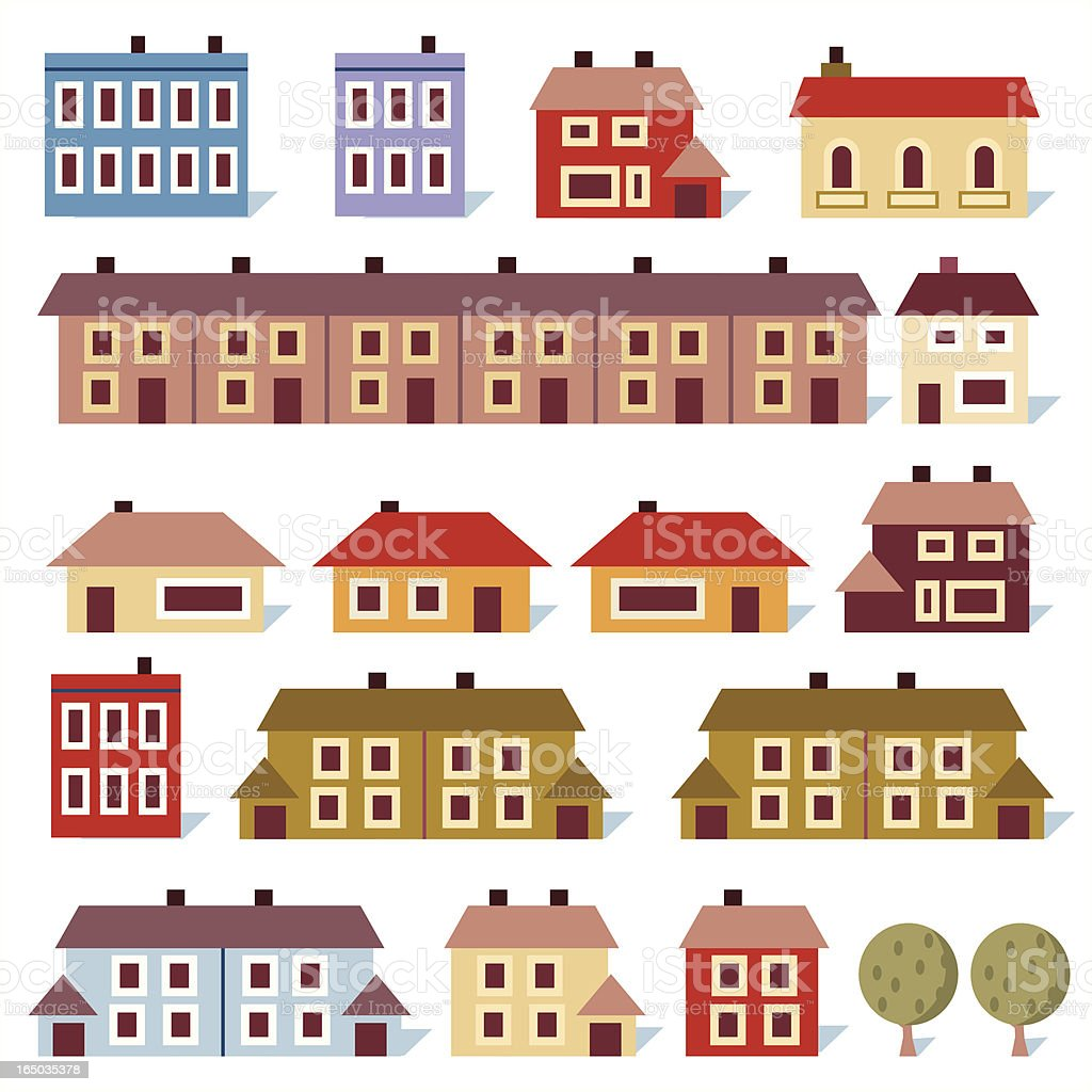 Happy House vector art illustration