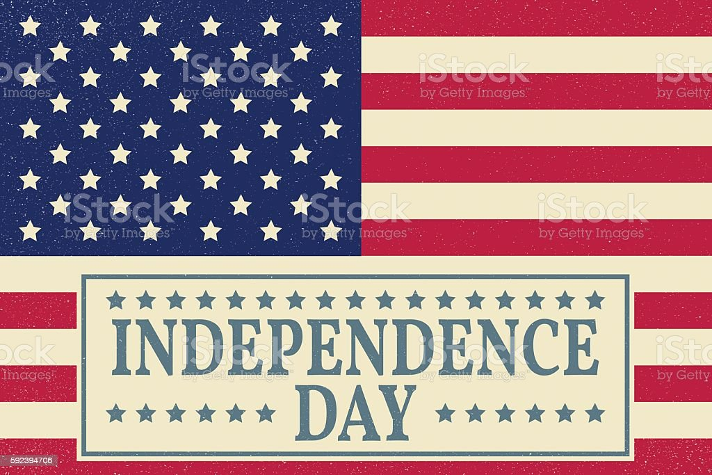 Happy independence day, 4 th july greeting card. Happy independence...