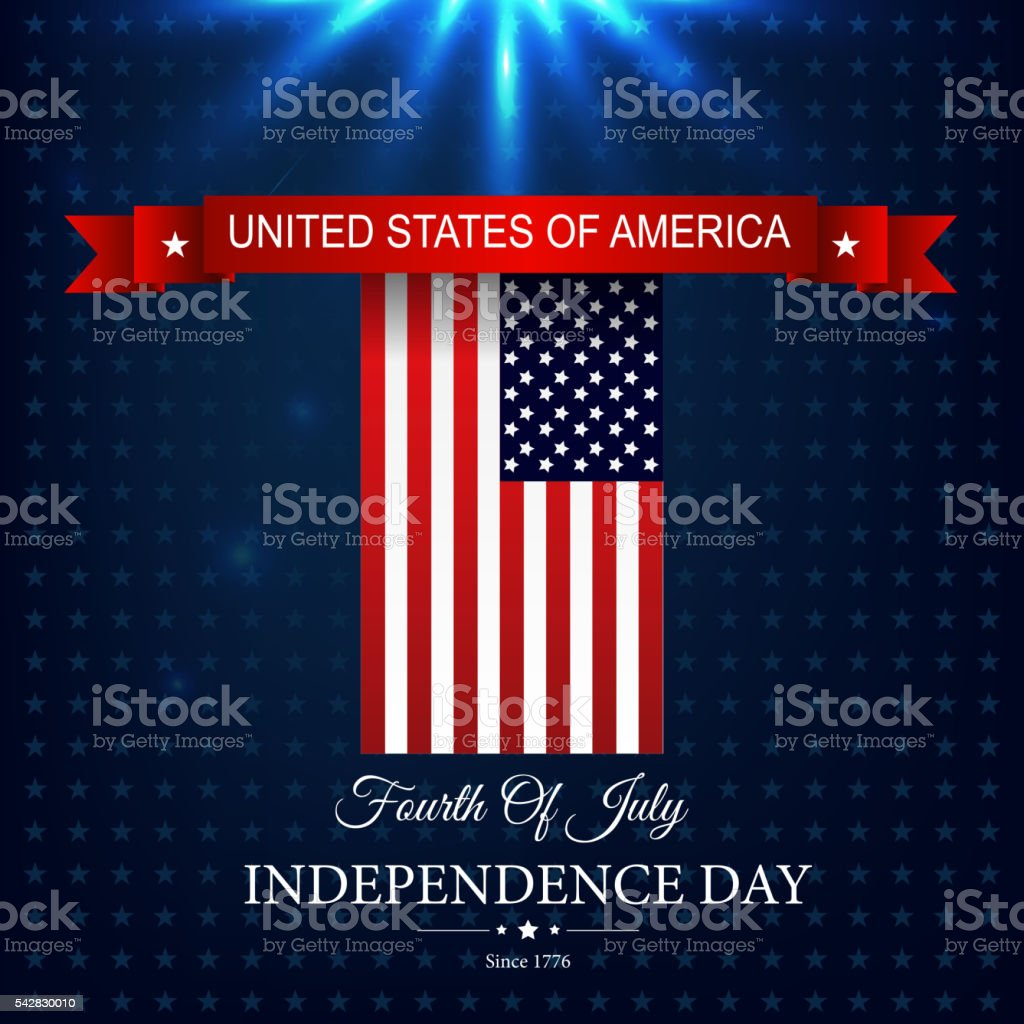 Happy Independence day 4th july vector art illustration