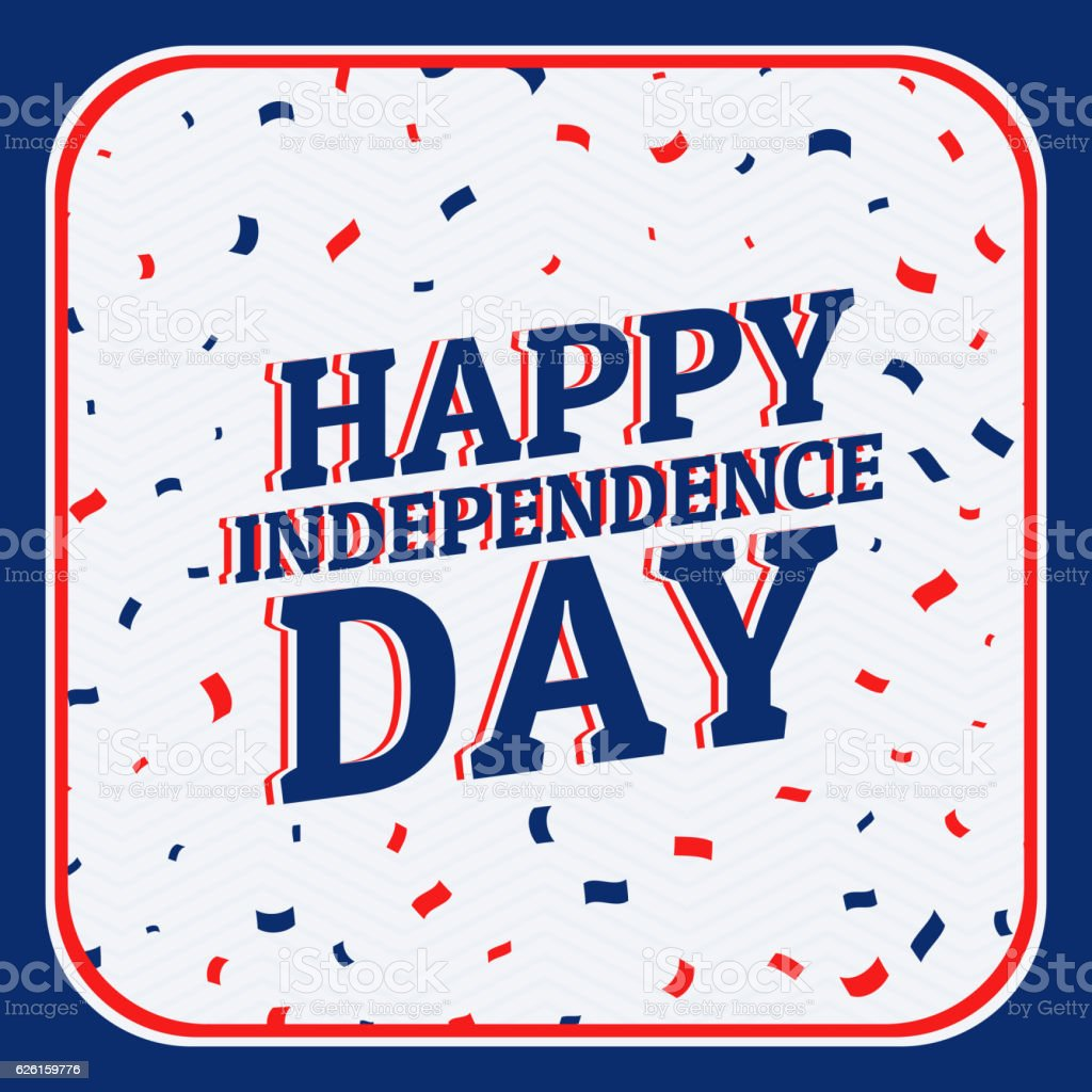 happy independence day background vector art illustration