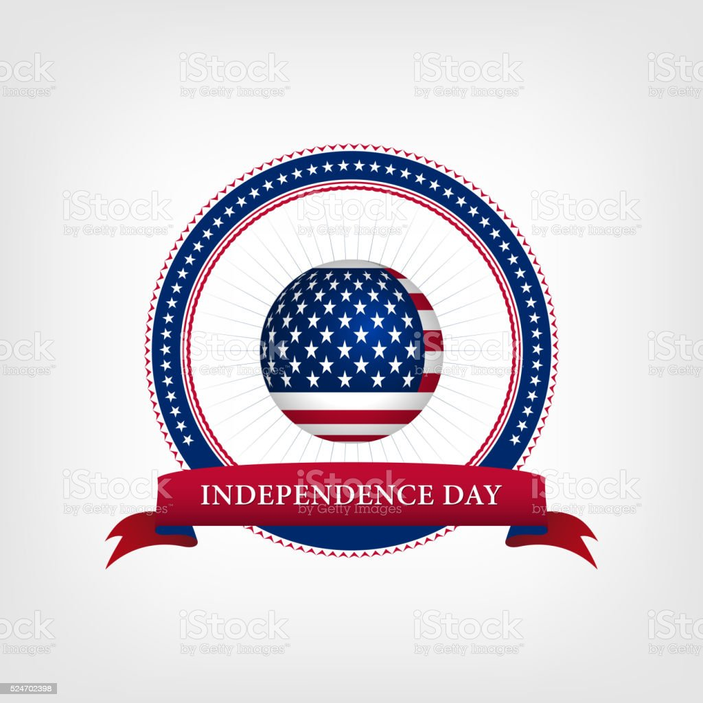 Happy independence day card United States of America vector art illustration