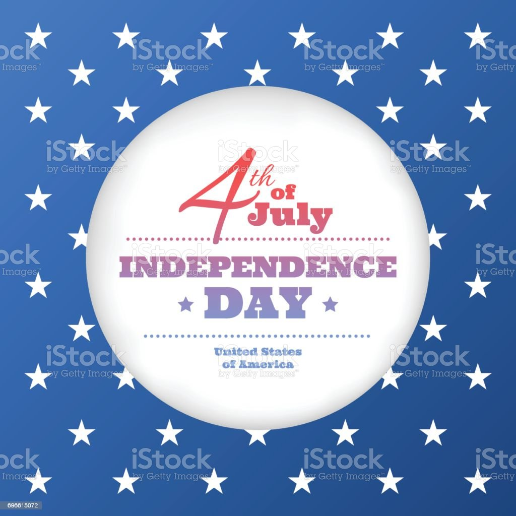 Happy independence day card vector art illustration