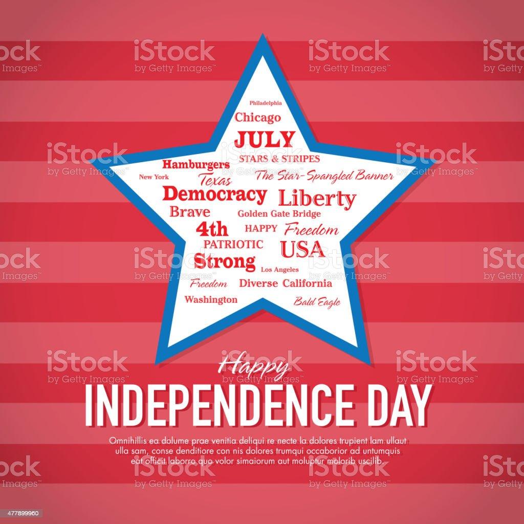 ハッピー独立記念日のお祝いのグリーティングカードのデザイン