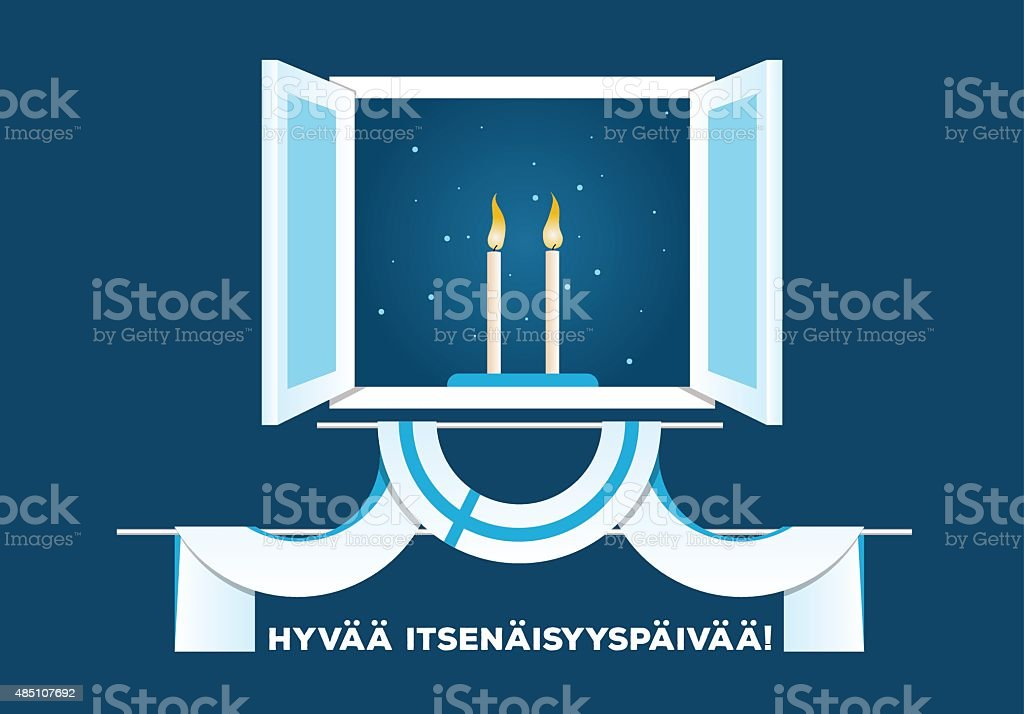 Happy Independence Day of FInland vector art illustration