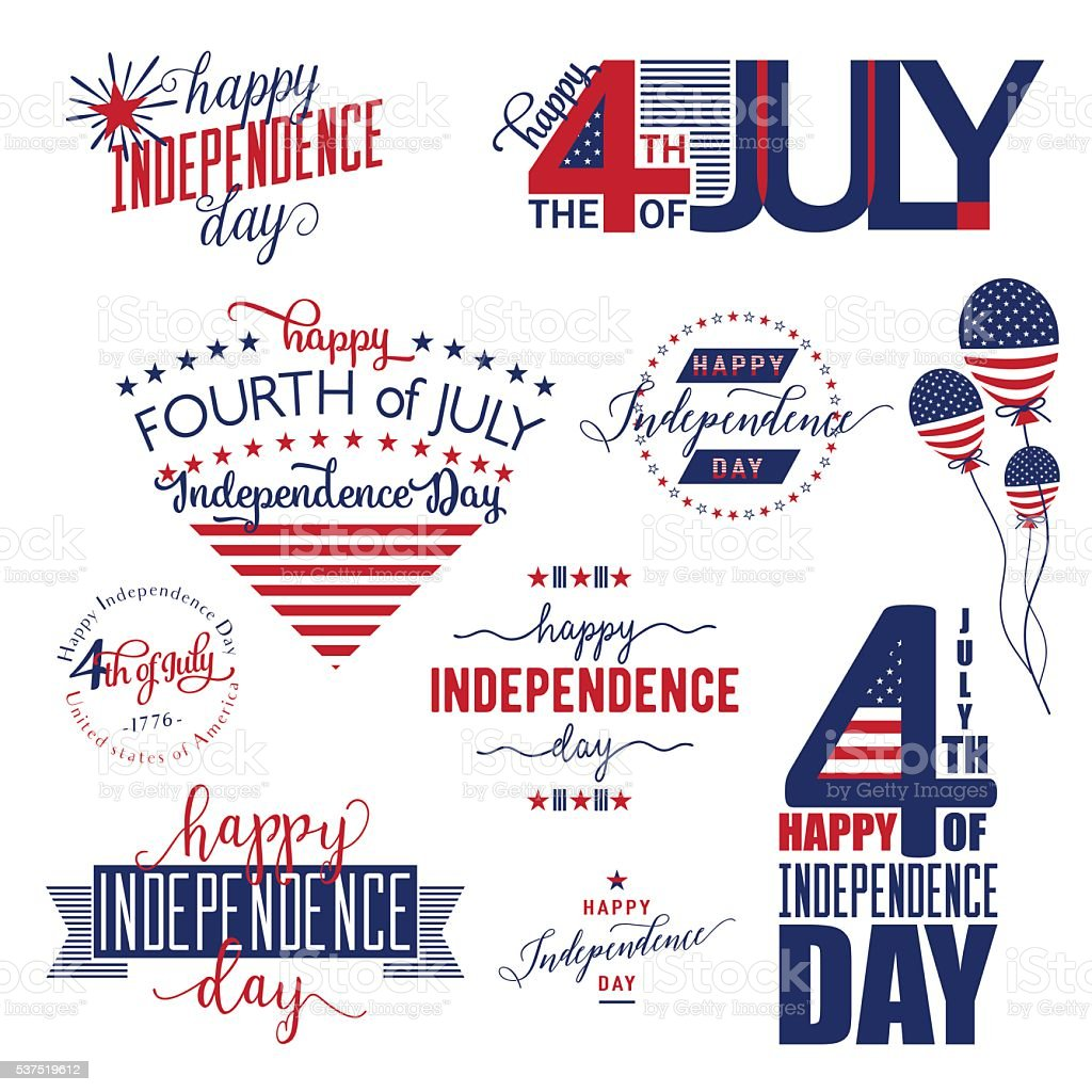 Happy Independence Day United States overlay . Fourth of July - vector art illustration