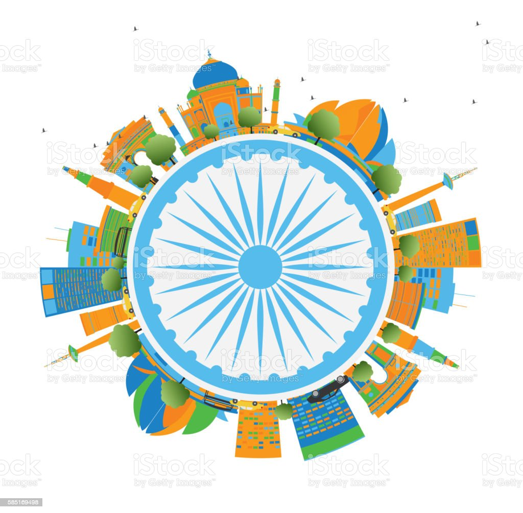 Happy Indian Republic Day Card. vector art illustration