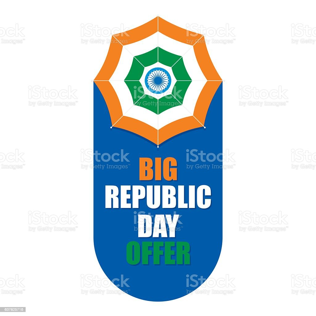 happy indian republic day vector art illustration