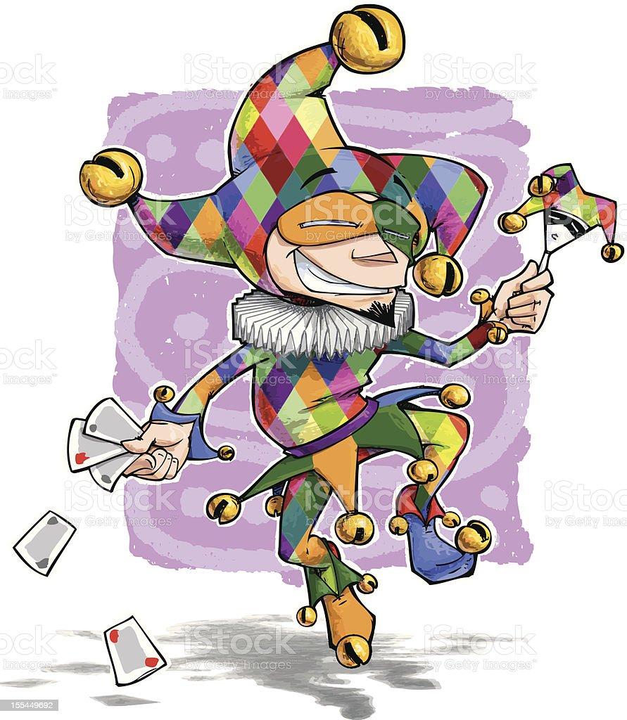 Happy Jester vector art illustration