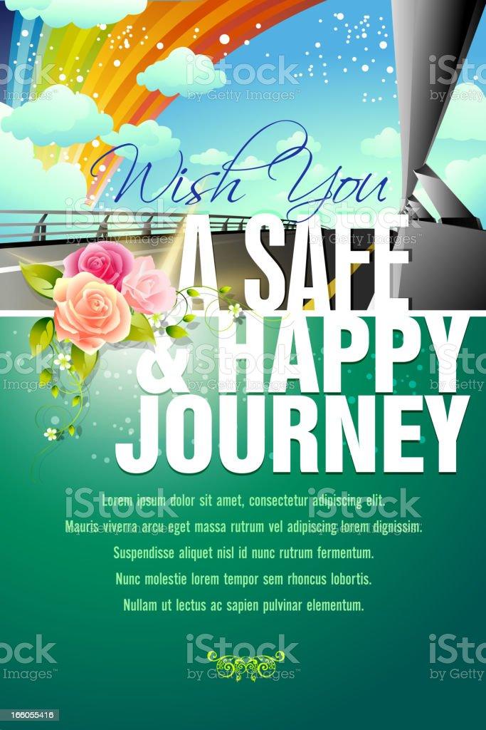 Happy Journey Background royalty-free stock vector art