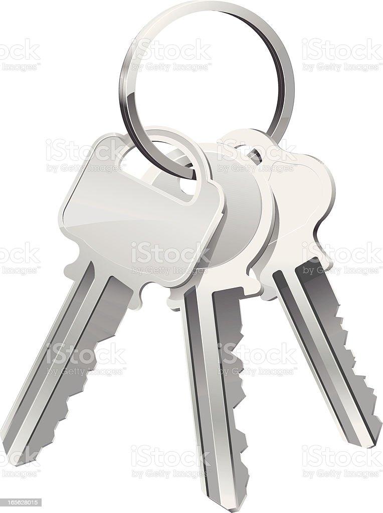 Happy Keys vector art illustration