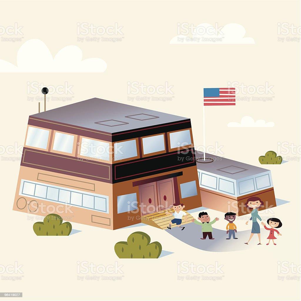 Happy Kids at School royalty-free stock vector art