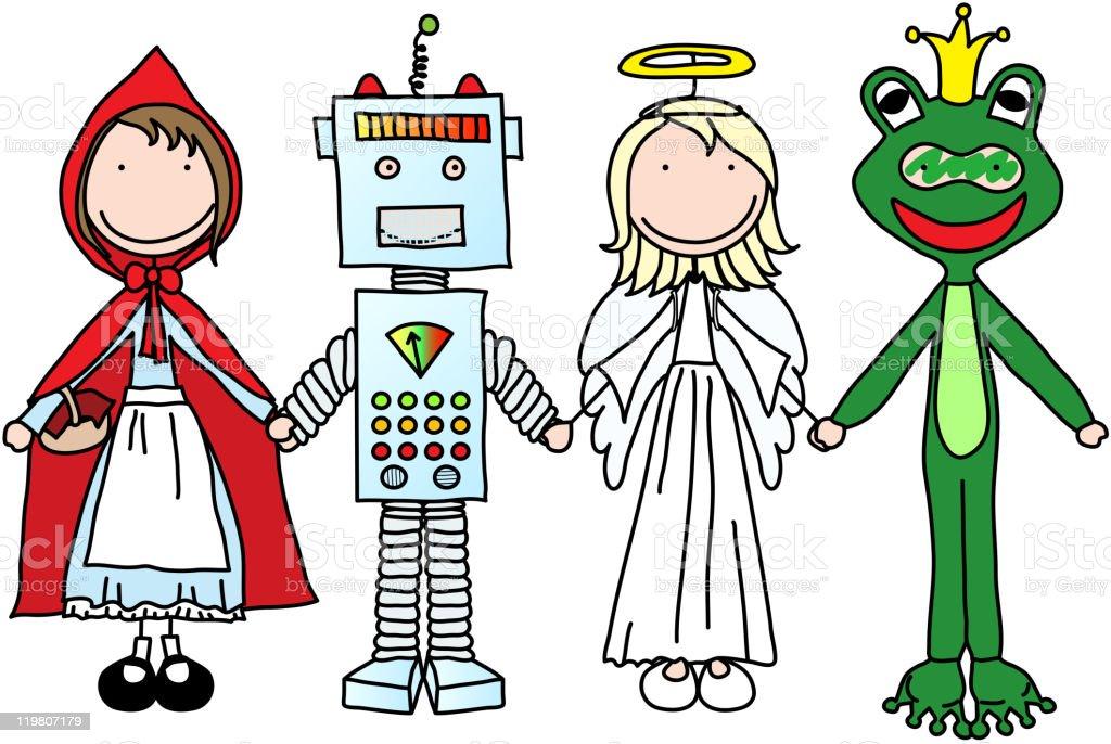 Happy kids royalty-free stock vector art