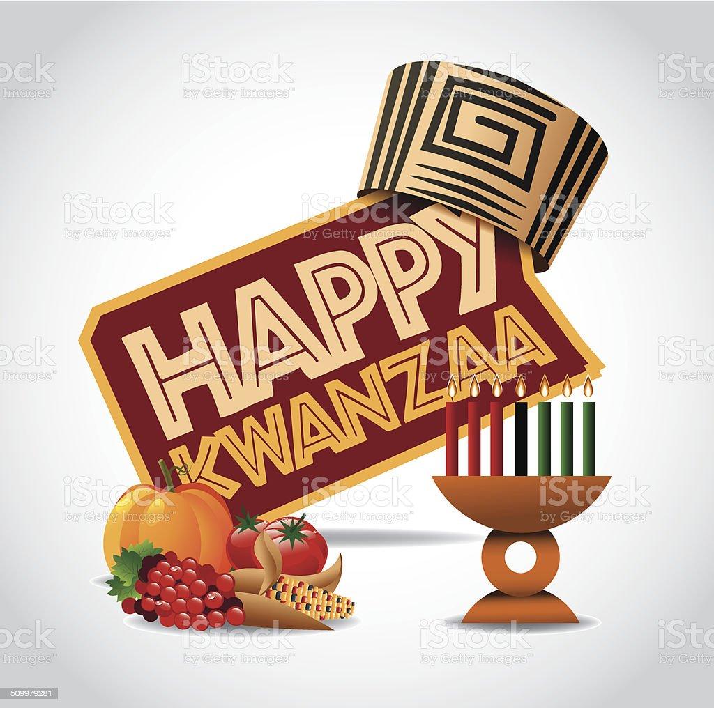 Happy Kwanzaa icon vector art illustration