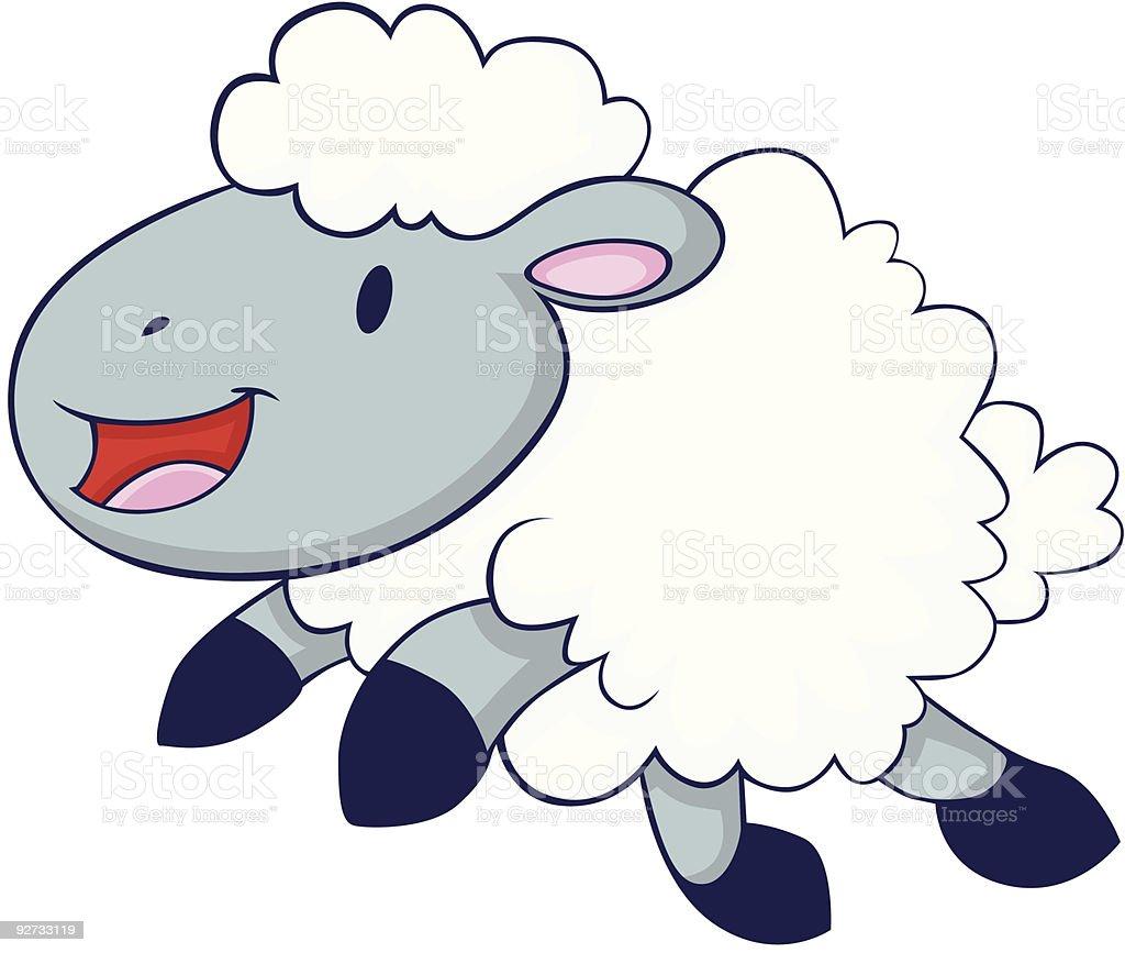 Happy Lamb royalty-free stock vector art