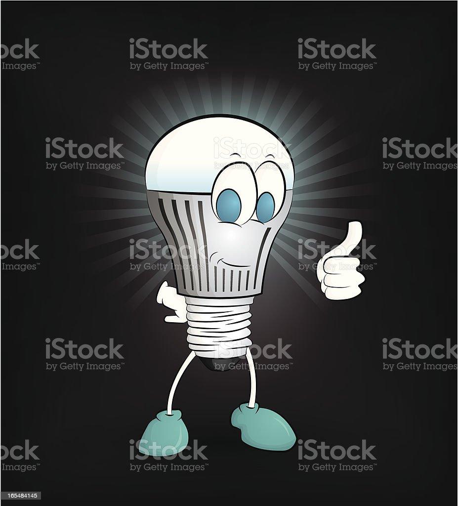 Happy LED light Giving thumb up royalty-free stock vector art