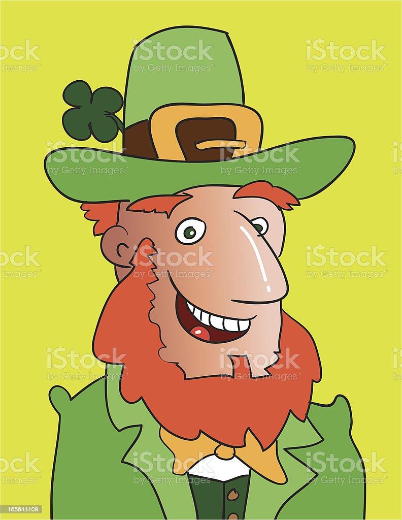 Happy Leprechaun royalty-free stock vector art