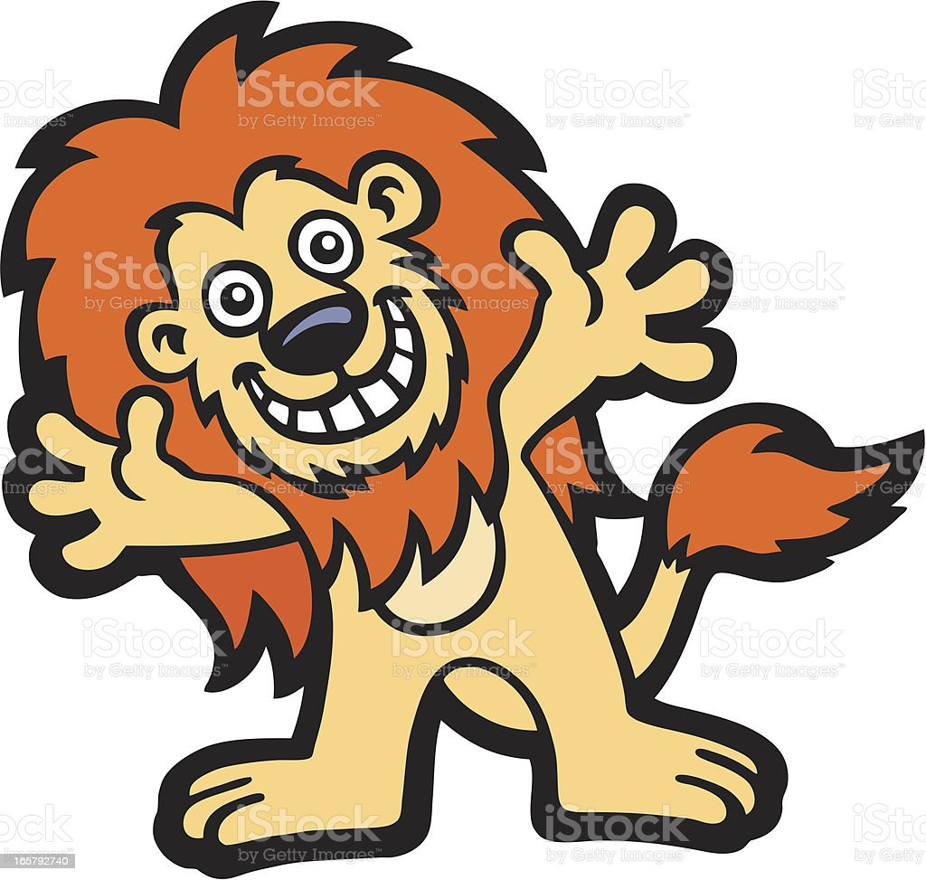 Happy Lion royalty-free stock vector art