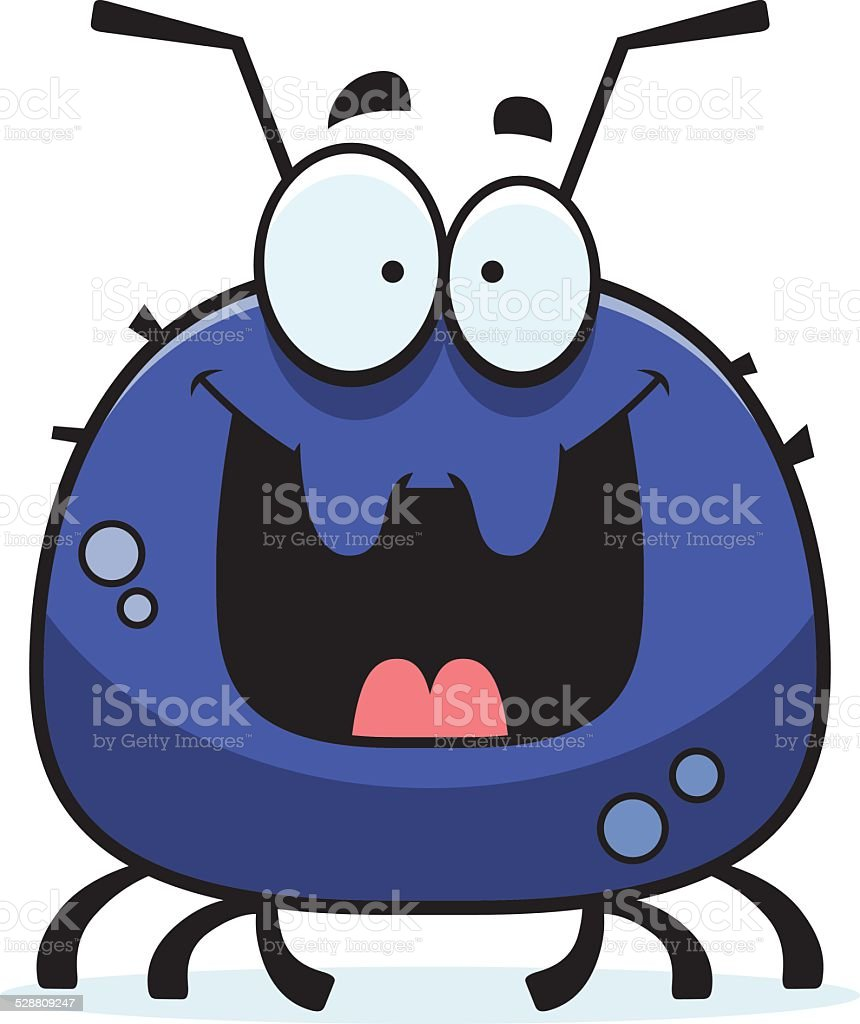 Happy Little Tick vector art illustration