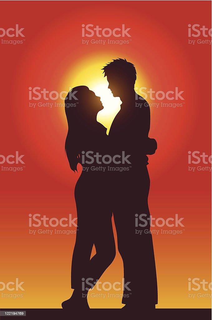 Heureux couple amoureux stock vecteur libres de droits libre de droits