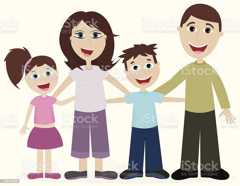 Happy Loving Family royalty-free stock vector art