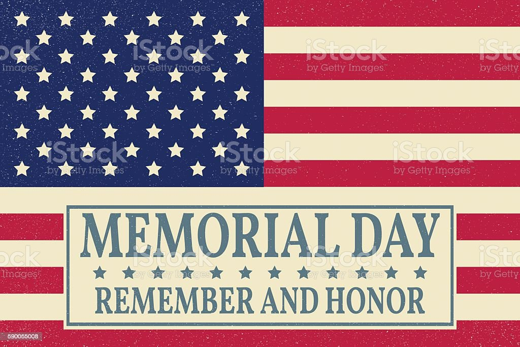 Happy Memorial Day background template. Happy Memorial Day poster. Remember vector art illustration