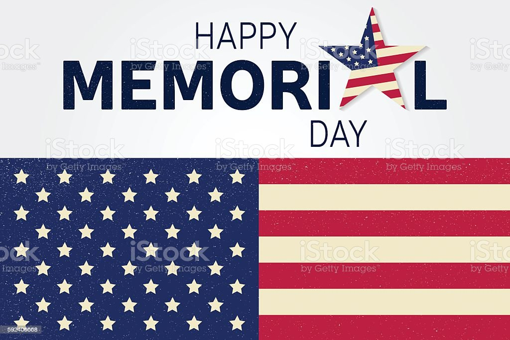 Happy Memorial Day greeting card. vector art illustration